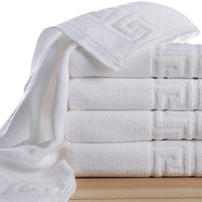 Toallas de algodon Greca blanco